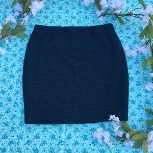 Forever 21 Teal Textured Skirt